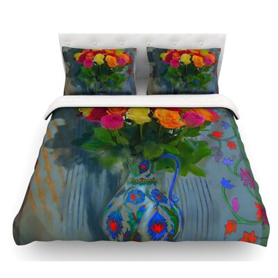 Spring Bouquet by S. Seema Z Flowers Featherweight Duvet Cover Size: Queen