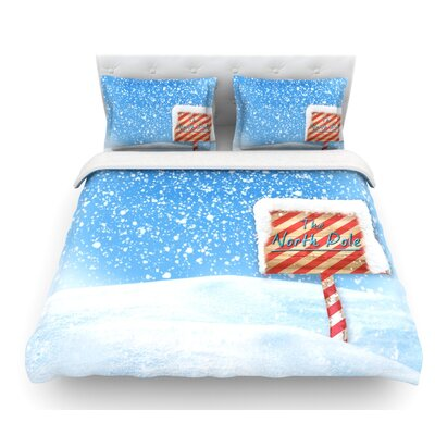North Pole by Snap Studio Snow Featherweight Duvet Cover Size: Twin