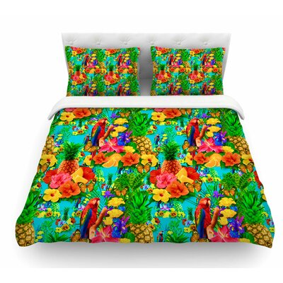 Tropical Style by Shirlei Patricia Muniz Nature Featherweight Duvet Cover Size: Queen