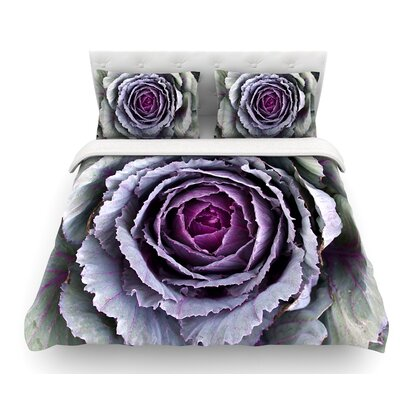 Flower Love by Susan Sanders Featherweight Duvet Cover Size: Twin