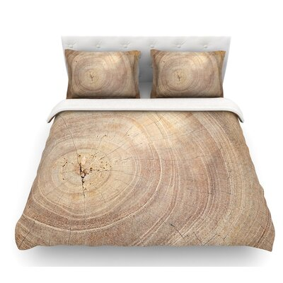 Aging Tree by Susan Sanders Wooden Featherweight Duvet Cover Size: Twin