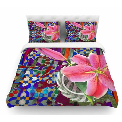 Lily Explosion by S. Seema Z Featherweight Duvet Cover Size: Twin