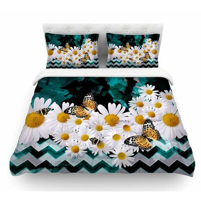 Secret Garden by Shirlei Patricia Muniz Floral Featherweight Duvet Cover Size: Queen