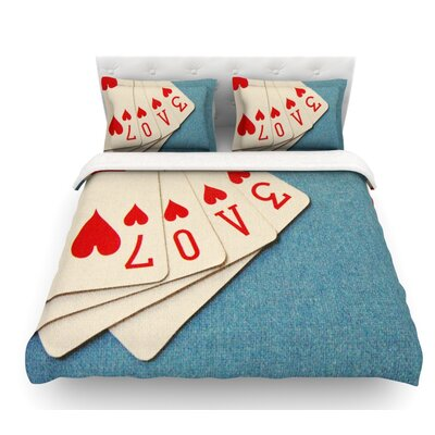Love by Skye Zambrana Featherweight Duvet Cover Size: Queen