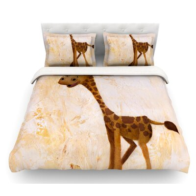 Georgey the Giraffe by Rachel Kokko Featherweight Duvet Cover Size: Queen