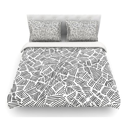 Inca Lines by Pom Graphic Design Illustration Featherweight Duvet Cover Size: Queen