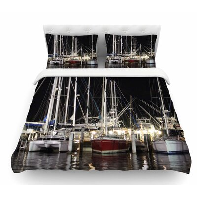 Dinner Key Marina by Philip Brown Coastal Featherweight Duvet Cover Size: Twin