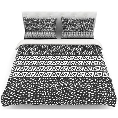 Wind Night by Pom Graphic Design Featherweight Duvet Cover Size: Queen