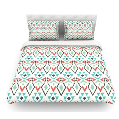 Tribal Marrakech by Pom Graphic Design Featherweight Duvet Cover Size: Queen