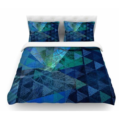 Triangles Melange by Pia Schneider Featherweight Duvet Cover Size: Twin