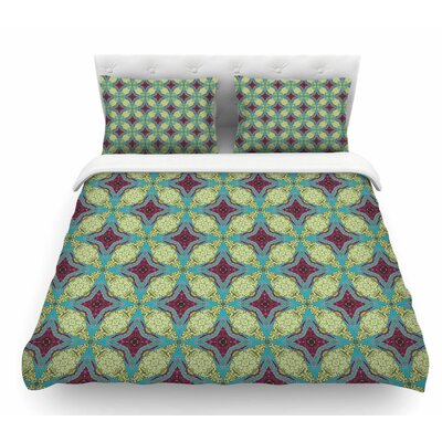 Brocade Foulard by Rachel Watson Plum Featherweight Duvet Cover Size: King