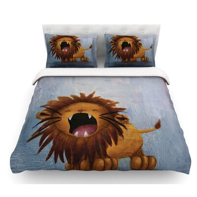 Dandy Lion by Rachel Kokko Featherweight Duvet Cover Size: Twin