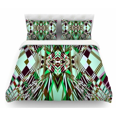 Sweeping Line Pattern I-E4B by Pia Schneider Diamond Featherweight Duvet Cover Size: Queen
