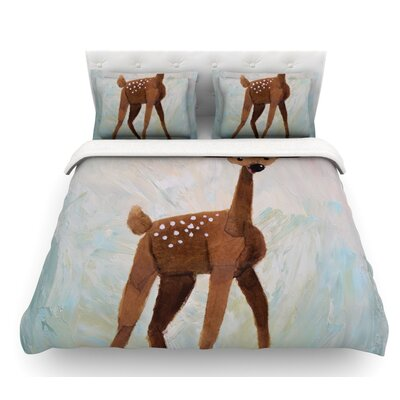 Oh Deer by Rachel Kokko Featherweight Duvet Cover Size: King