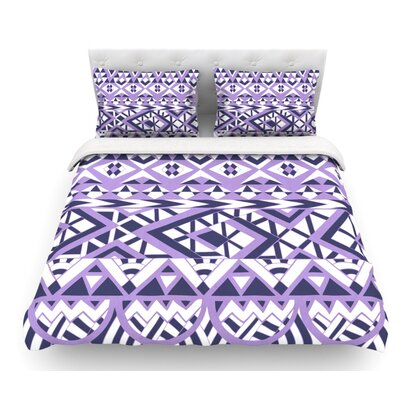 Tribal Simplicity II by Pom Graphic Design Featherweight Duvet Cover Size: King
