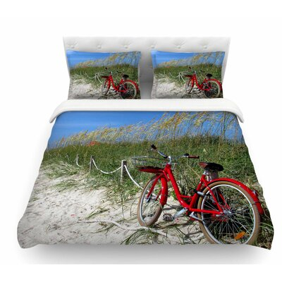 A Day at the Beach by Philip Brown Featherweight Duvet Cover Size: Queen