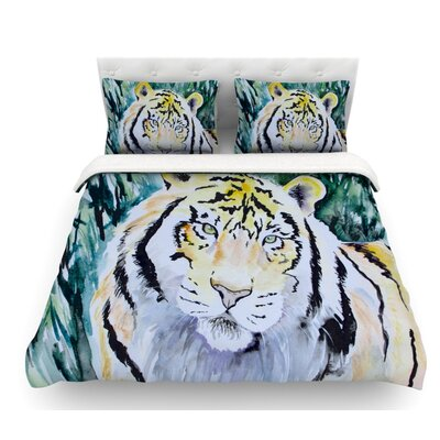 Tiger by Padgett Mason Featherweight Duvet Cover Size: Queen
