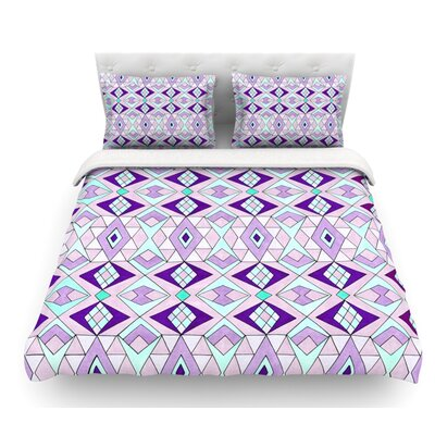 Geometric Flow by Pom Graphic Design Geometric Featherweight Duvet Cover Size: Queen