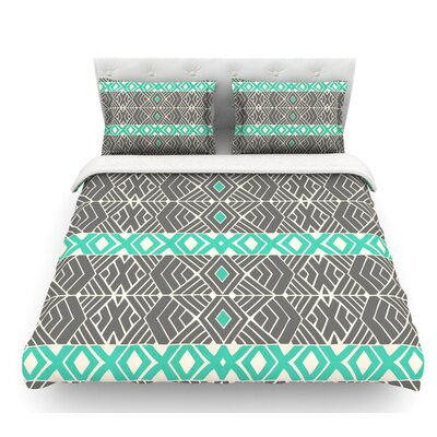 Going Tribal by Pom Graphic Design Featherweight Duvet Cover Size: King