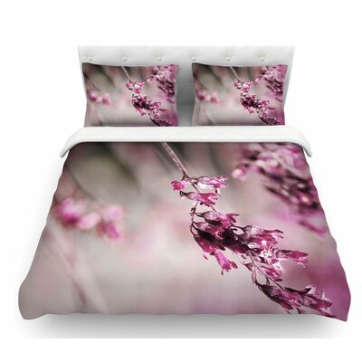 Rose Spangles Pattern by Pia Schneider Featherweight Duvet Cover Size: Queen