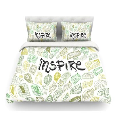 Inspire Nature by Pom Graphic Design Featherweight Duvet Cover Size: Queen
