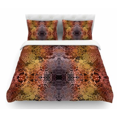 Floral Fall Pattern by Pia Schneider Floral Featherweight Duvet Cover Size: King