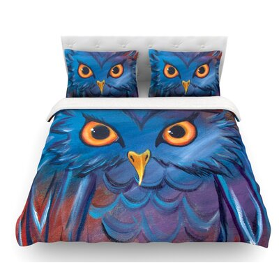 Hoot by Padgett Mason Featherweight Duvet Cover Size: Twin