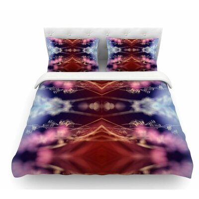 Abstract Floral by Pia Schneider Nature Featherweight Duvet Cover Size: Queen