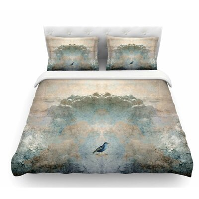 Heavenly Bird by Pia Schneider Animals Featherweight Duvet Cover Size: Queen