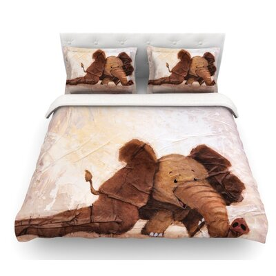 The Elephant with the Long Ears by Rachel Kokko Featherweight Duvet Cover Size: Queen