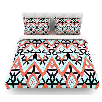 Geometric Mountains by Pom Graphic Design Featherweight Duvet Cover Size: Queen