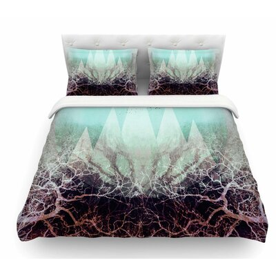 Trees Under Magic Mountains VII by Pia Schneider Featherweight Duvet Cover Size: King