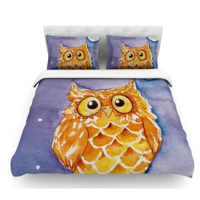 Little Hoot by Padgett Mason Featherweight Duvet Cover Size: Twin