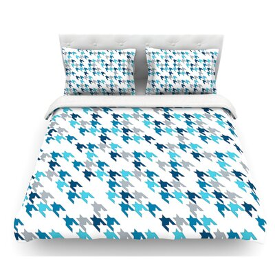 Tooth by Project M Blush Featherweight Duvet Cover Size: Twin, Color: Navy Blue/White