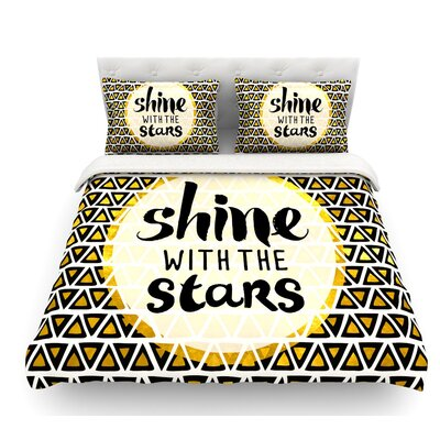 Shine with the Stars by Pom Graphic Design Featherweight Duvet Cover Size: Queen