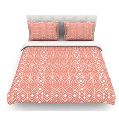 Aztec Roots by Pom Graphic Design Tribal Featherweight Duvet Cover Size: Queen