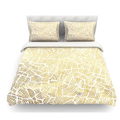 Inca Gold Trail by Pom Graphic Design Featherweight Duvet Cover Size: Queen