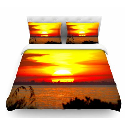 Sunrise on Sanibel by Philip Brown Featherweight Duvet Cover Size: Twin