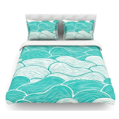 The Calm and Stormy Seas by Pom Graphic Design Featherweight Duvet Cover Size: Twin