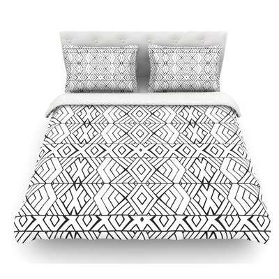 Tribal Expression by Pom Graphic Design Featherweight Duvet Cover Size: Queen