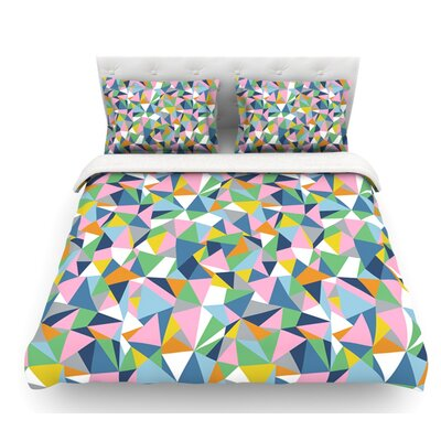 Abstraction by Project M Abstract Featherweight Duvet Cover Size: Twin, Color: Rainbow/Pink