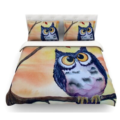 Hootie Cutie by Padgett Mason Featherweight Duvet Cover Size: Twin