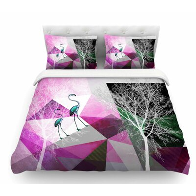 Flamingo P22 by Pia Schneider Geometric Featherweight Duvet Cover Size: King