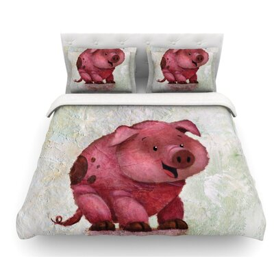 This Little Piggy by Rachel Kokko Featherweight Duvet Cover Size: Queen