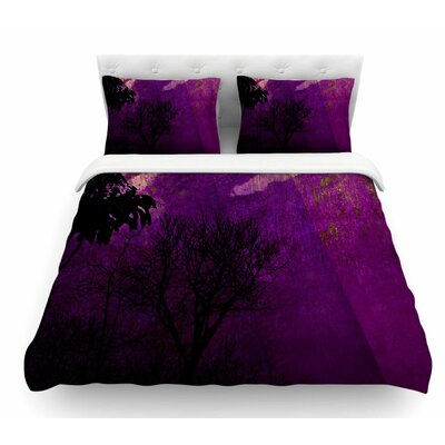 Trees Under Magic Mountain by Pia Schneider Nature Featherweight Duvet Cover Size: Queen