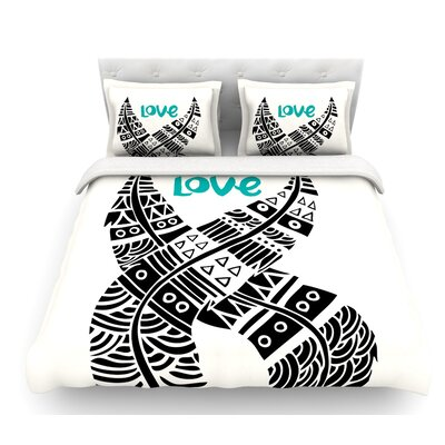 United Love by Pom Graphic Design Tribal Featherweight Duvet Cover Size: Queen