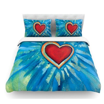 Love Shines on by Padgett Mason Featherweight Duvet Cover Size: Queen
