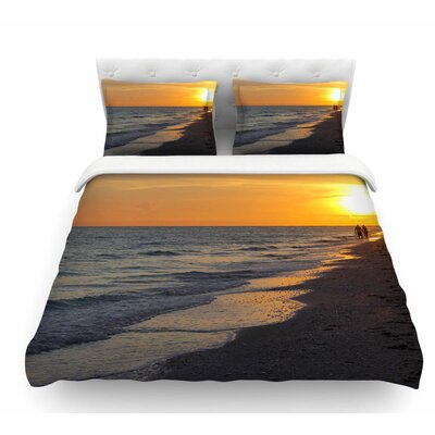 Sunset Beach by Philip Brown Featherweight Duvet Cover Size: Twin