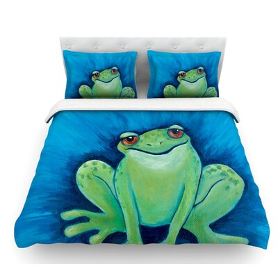 Ribbit Ribbit by Padgett Mason Featherweight Duvet Cover Size: Queen