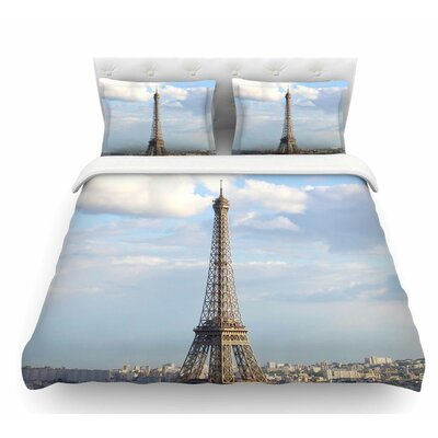 Eiffel Tower by Philip Brown Featherweight Duvet Cover Size: Twin